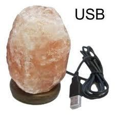 LÁMPARA DE SAL NATURAL USB