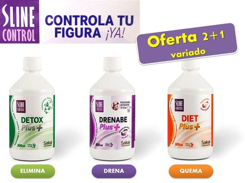SLINE CONTROL PLUS + 500ml. (2+1 variado)
