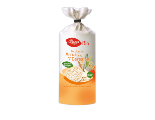 TORTITAS DE ARROZ Y 7 CEREALES ECO 100gr.