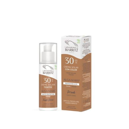 CREMA FACIAL SOLAR COLOR SPF 30  50ml. (dorado)