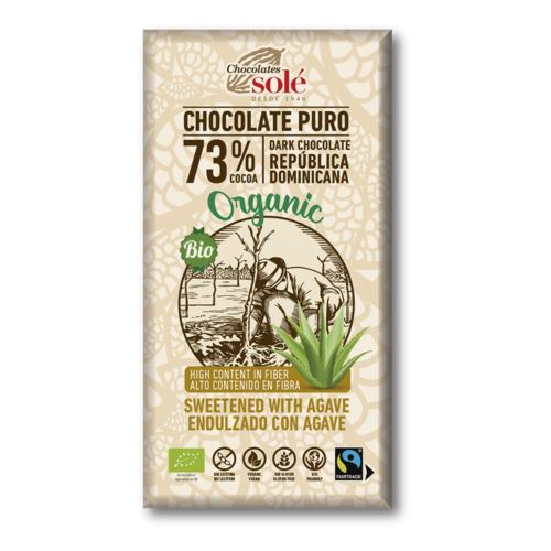 CHOCOLATE NEGRO 73% CON AGAVE ECO