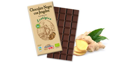 CHOCOLATE NEGRO 56% CON JENGIBRE ECO