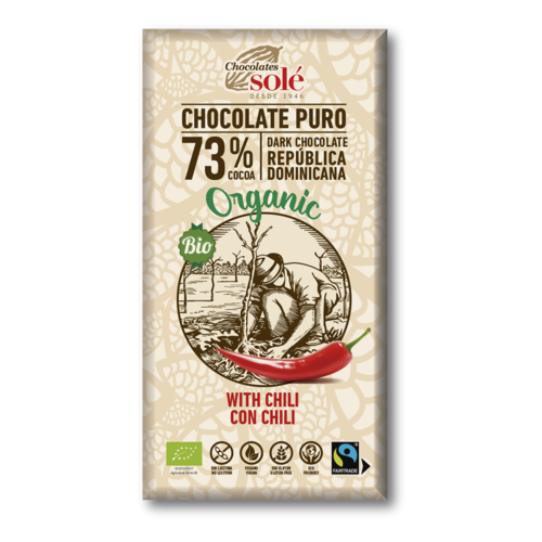CHOCOLATE NEGRO 73% CON CHILI ECO