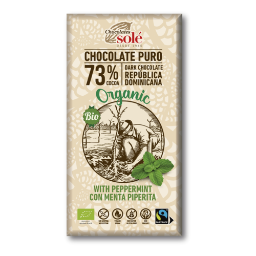 CHOCOLATE NEGRO 73% CON MENTA ECO