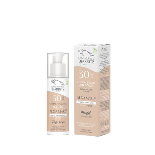 CREMA FACIAL SOLAR COLOR SPF 30  50ml. (marfil)